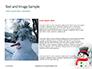 Snowman Against Blurred Festive Bokeh Background Presentation slide 15