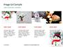 Snowman Against Blurred Festive Bokeh Background Presentation slide 16