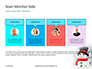 Snowman Against Blurred Festive Bokeh Background Presentation slide 18