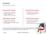 Snowman Against Blurred Festive Bokeh Background Presentation slide 2