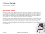 Snowman Against Blurred Festive Bokeh Background Presentation slide 4