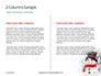 Snowman Against Blurred Festive Bokeh Background Presentation slide 5
