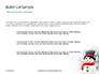 Snowman Against Blurred Festive Bokeh Background Presentation slide 7