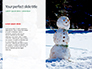 Snowman Against Blurred Festive Bokeh Background Presentation slide 9