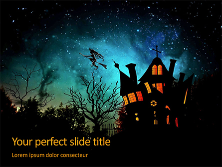 Witch's House Presentation Presentation Template, Master Slide