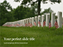 Arlington National Cemetery with Flag Next to Each Headstone During Memorial Day Presentation slide 1