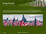 Arlington National Cemetery with Flag Next to Each Headstone During Memorial Day Presentation slide 10