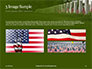 Arlington National Cemetery with Flag Next to Each Headstone During Memorial Day Presentation slide 12