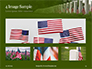 Arlington National Cemetery with Flag Next to Each Headstone During Memorial Day Presentation slide 13
