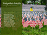 Arlington National Cemetery with Flag Next to Each Headstone During Memorial Day Presentation slide 9