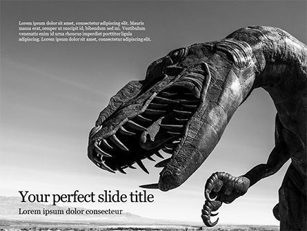 Tyrannosaurus Rex Presentation Presentation Template, Master Slide