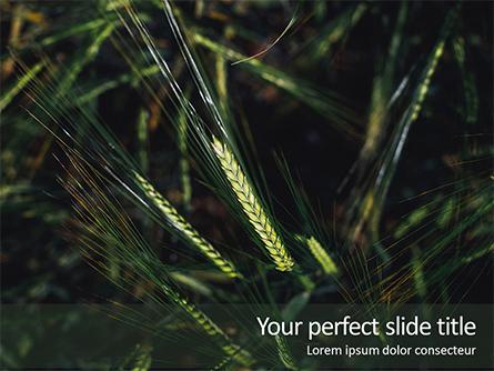 Green Leafed Plant Presentation Presentation Template, Master Slide