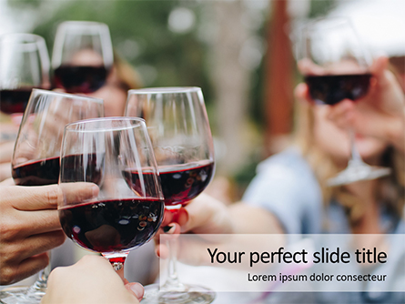 Wine and Food Festival Presentation Presentation Template, Master Slide
