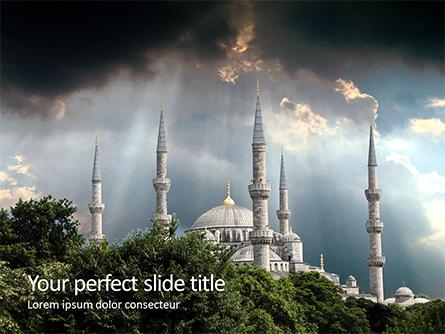 Suleymaniye Mosque under Dramatic Sky Presentation Presentation Template, Master Slide