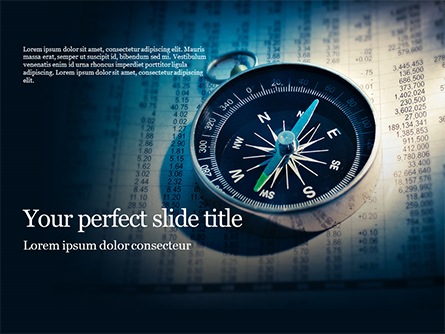 Financial Newspaper and Compass Presentation Presentation Template, Master Slide