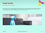 Female Hand Holds Dispenser on Turquoise Background Presentation slide 10