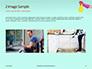 Female Hand Holds Dispenser on Turquoise Background Presentation slide 11