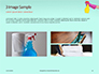 Female Hand Holds Dispenser on Turquoise Background Presentation slide 12