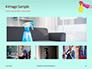 Female Hand Holds Dispenser on Turquoise Background Presentation slide 13