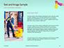 Female Hand Holds Dispenser on Turquoise Background Presentation slide 15