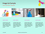 Female Hand Holds Dispenser on Turquoise Background Presentation slide 16