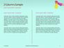 Female Hand Holds Dispenser on Turquoise Background Presentation slide 5