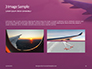 Airplane Wing with Sunrise in Light Flare Presentation slide 12