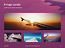 Airplane Wing with Sunrise in Light Flare Presentation slide 13