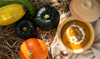 Vegetarian Autumn Pumpkin Cream Soup Presentation Presentation Template