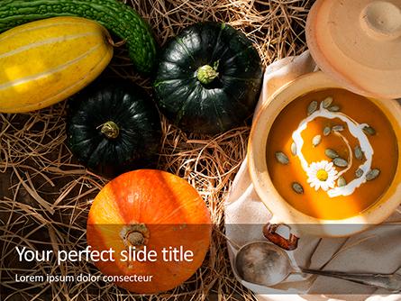 Vegetarian Autumn Pumpkin Cream Soup Presentation Presentation Template, Master Slide