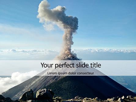 Active Volcano Presentation Presentation Template, Master Slide