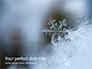 Closeup of a Snowflake Presentation slide 1
