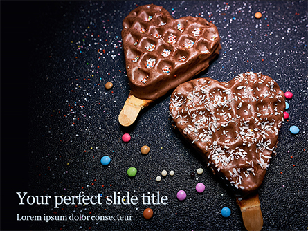 Waffles with Chocolate Topping Presentation Presentation Template, Master Slide