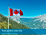 National Flag of Canada Flying on the Top of Sulphur Mountain Presentation slide 1