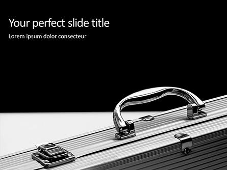 Aluminium Briefcase Presentation Presentation Template, Master Slide