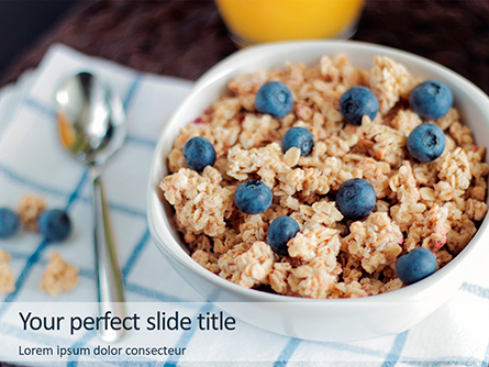 High-Protein Cereal Healthy Breakfast Presentation Presentation Template, Master Slide