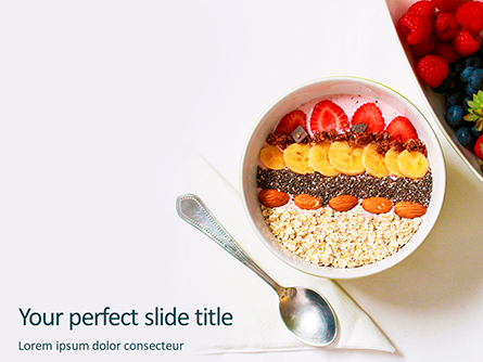 Healthy Breakfast Presentation Presentation Template, Master Slide