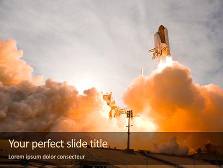 Space Shuttle Lifting Off Presentation Presentation Template, Master Slide