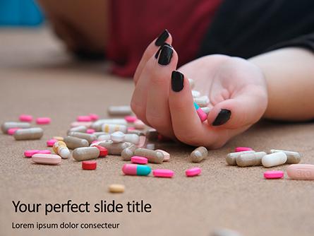 Hand with Pills on Floor Presentation Presentation Template, Master Slide
