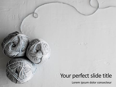 Gray Woolen Yarn Skeins Presentation Presentation Template, Master Slide
