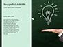 A Person's Hand Writing on Paper Be Creative Presentation slide 9