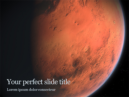 Red Planet Mars Presentation Presentation Template, Master Slide
