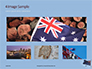 Australian Flag Waving on the Wind Presentation slide 13