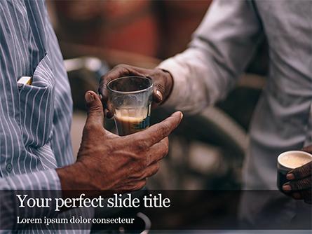 Drinking Masala Chai Presentation Presentation Template, Master Slide