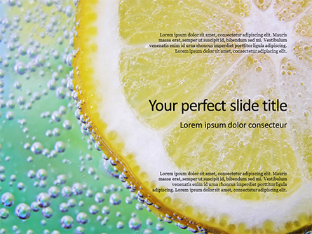 Close-up of Citrus in Water Presentation Presentation Template, Master Slide