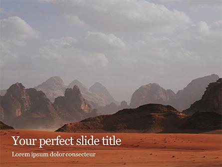 Red Mountains Under White Clouds Presentation Presentation Template, Master Slide