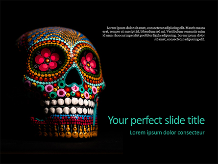 Artsy Skull Presentation Presentation Template, Master Slide