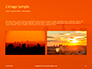 Urban Sunset Skyline Presentation slide 11