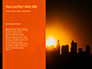 Urban Sunset Skyline Presentation slide 9