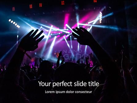 Cheering Crowd at a Rock Concert Presentation Presentation Template, Master Slide